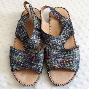Naturalizer rainbow Scout sandals leather 9 1/2 W
